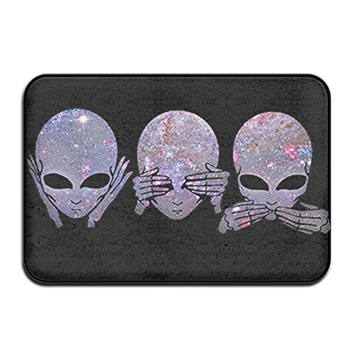 Evil Latex (DDDHN Hear See Speak No Evil Doormat Entrance Mat Floor Mat Rug Indoor/Outdoor/Front Door/Bathroom Mats Rubber Non Slip)