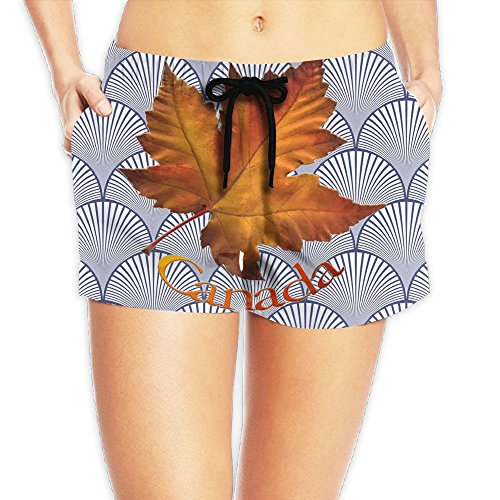 Decent Swimming Costume For Women (Canadian Maple Leaf Waist Shorts Lady Sweatpantssport Funniest)