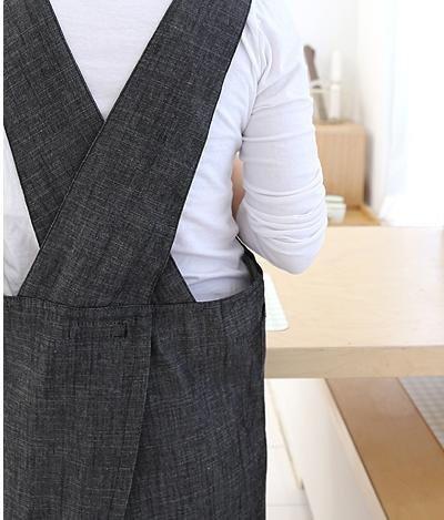 Cozymomdeco Grembiule da cucina con retro a X, stile giapponese, in ...