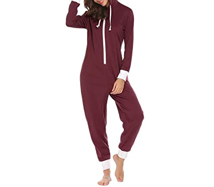The fairy Women Winter Pajamas Set Hooded Long Sleeve Zip Up Fleece Lined  Pajamas Sleepwear Female 779c7293a