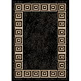 Home Dynamix 5-11021-450 Optimum Polypropylene Area Rug, 21 by 35-Inch, Black