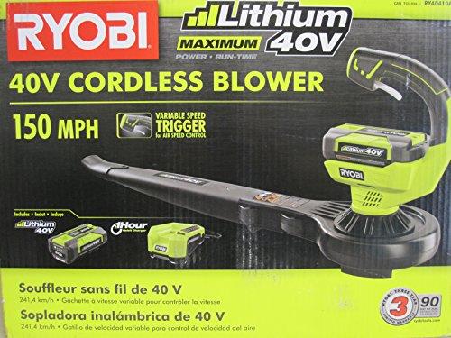 Ryobi RY40410A 40-Volt Lithium-ion Cordless Blower/Sweeper