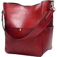 Molodo Womens Satchel Hobo Stylish Top Handle Tote PU Leather Handbag Shoulder Purse