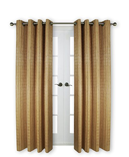 (Versailles Home Fashions BPU144884-9 Bamboo Wood Curtain Panel with Grommets, 48