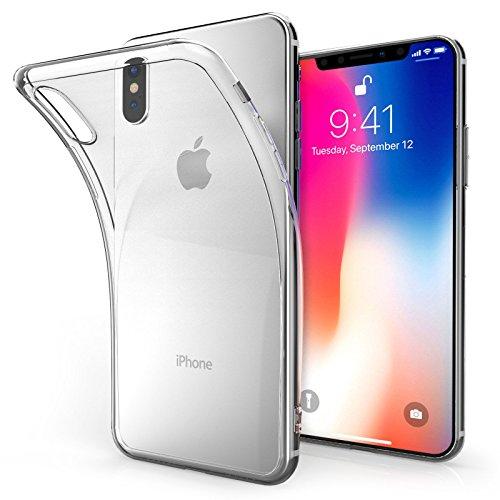 Ultra Thin Silicone Case For Apple iPhone X Clear TPU Gel Back Phone - Nano Candy Hard Ipod