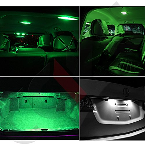 OCPTY 9 Pack Green Accessories Replacement Package Kit Replacement fit for 1995-2005 Chevy Cavalier LED Bulb LED Interior ()