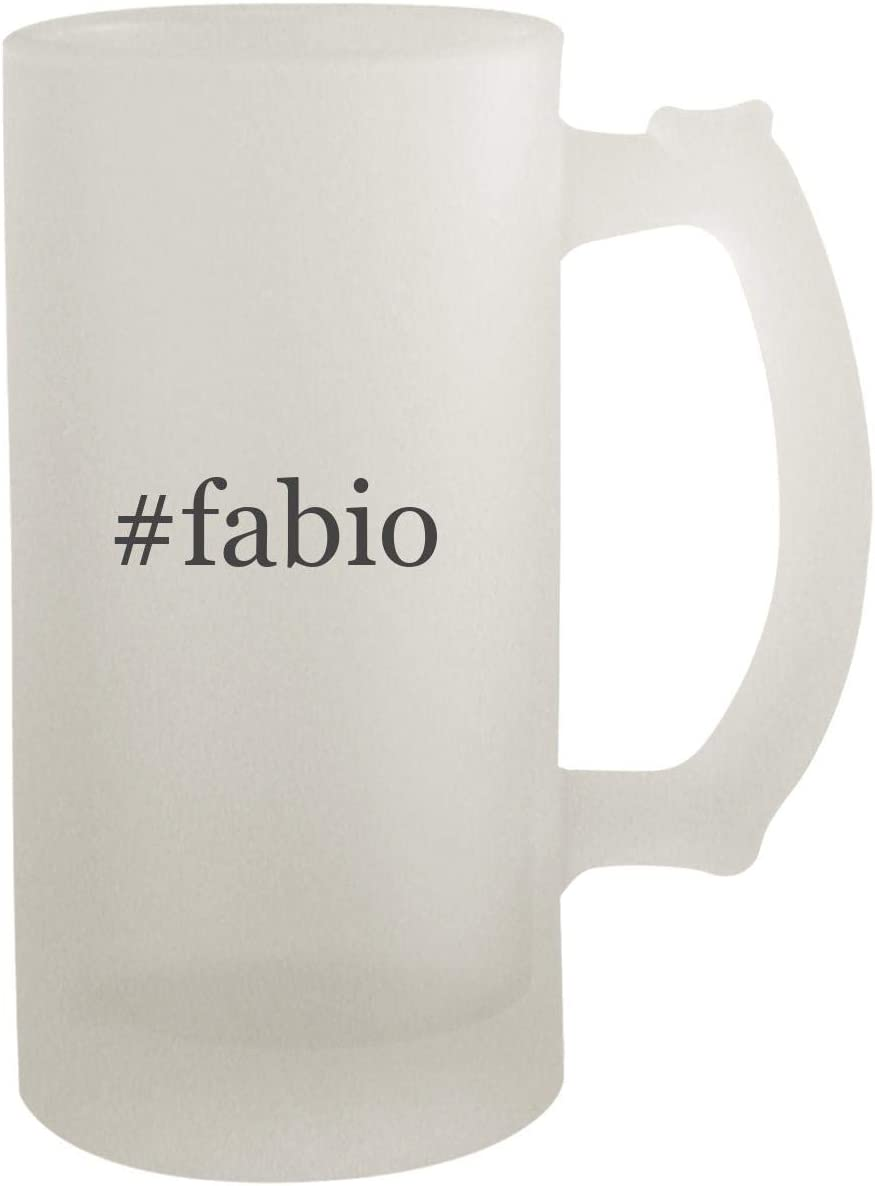 #fabio - Frosted Glass 16oz Beer Stein