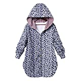 wangqingsong001 Women Winter Warm Coat Hoodie Floral Print Hooded Button up Oversize Coats Jacket with Pockets