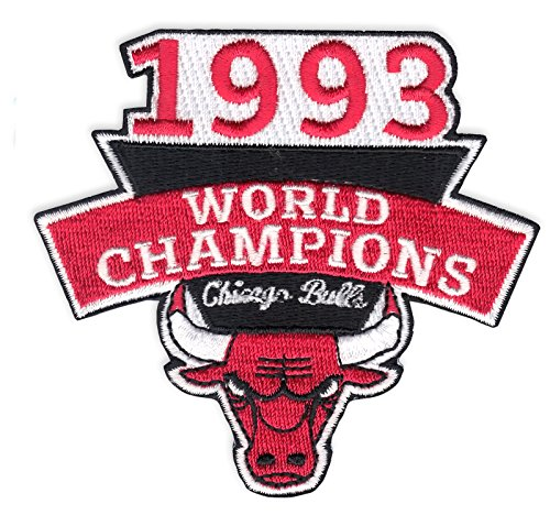 (1993 Chicago Bulls NBA Finals Champions Embroidered Basketball Jersey Patch)