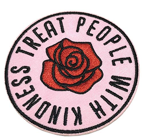 Treat People with Kindness Embroidered Iron on or Sew On 3