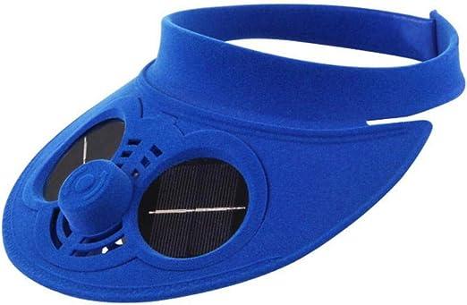Wosiky Sombrero con Ventilador Gorra de b/éisbol Ventilador de Carga Ventilador Gorra de protecci/ón Solar Gorra de Visera Ventilador Gorra de b/éisbol refrigerada por Ventilador de Aire