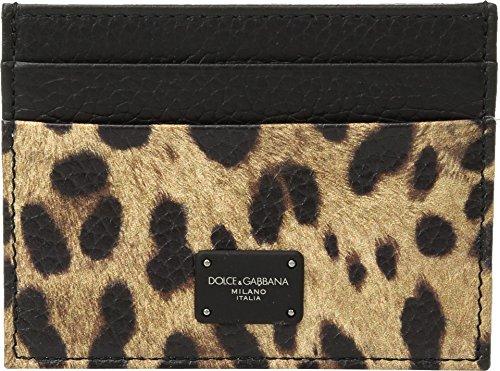 Dolce & Gabbana  Men's Leopard Card Holder Leopard Print One - Wallet Dolce Mens Gabbana