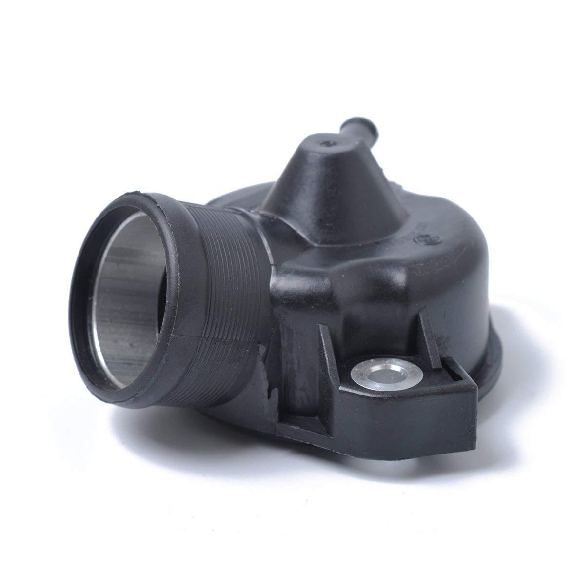 Kongqiabona Cubierta de la Carcasa del termostato del Coche Cubierta de protecci/ón de la Carcasa del termostato autom/ático de Aluminio de pl/ástico para Mercedes-Benz W124 201 M102