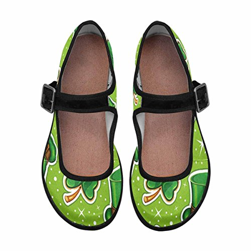 Interestprint Femmes Confort Mary Jane Appartements Casual Chaussures De Marche Multi 7