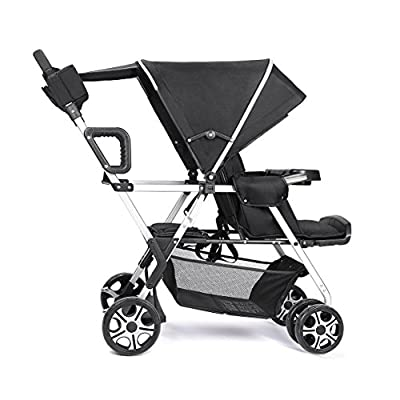 Double Stroller Convenience Urban Twin Carriage stroller Tandem Collapsible Stroller All Terrain Double pushchair for Toddler Girls and Boys Stable Stroller Frame with Bag Organizer by YIWANBA that we recomend individually.