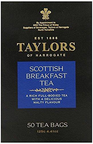 - TAYLORS OF HARROGATE, Tea; Scottish Breakfast - 50 Teabags, Pack of 6