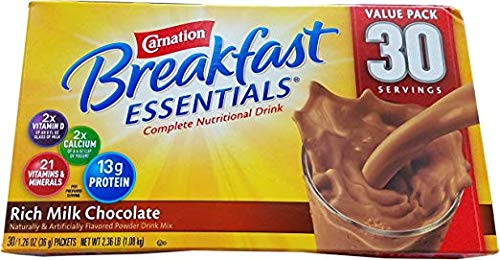 Carnation Breakfast Essentials Complete Nutritional Drink Rich Milk Chocolate - 30 Servings 2.36 LB (2 Pack) by Carnation (Image #1)