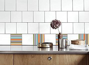 Küche Fliesen Aufkleber Streifen Vinyl Film Für Badezimmer Wand Fliesen  Ideen Verschiedene Größen   16pcs