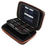 AUSTOR Travel Carrying Case Shell for Nintendo New 3DS XL (Black+Orange)