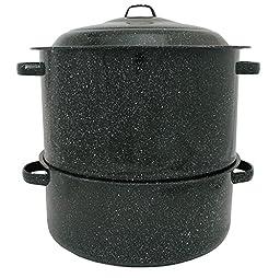 Granite Ware 6317-1 19-Quart Enamel-on-Steel 2-Tier Clam-and-Lobster Steamer