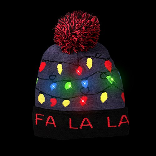1aaf8503ccb762 Windy City Novelties LED Light-up Knitted Ugly Sweater Holiday - Import It  All
