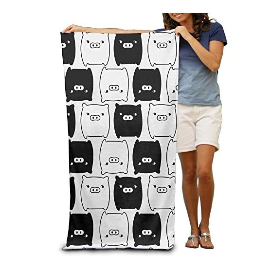 MonokuRo Boo Towel   Black & White   31 x 51 Inches 1
