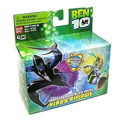 Ben 10 Ten Transforming Alien Rocks 1 Inch Mini Figure Set XLR8 Ripjaws