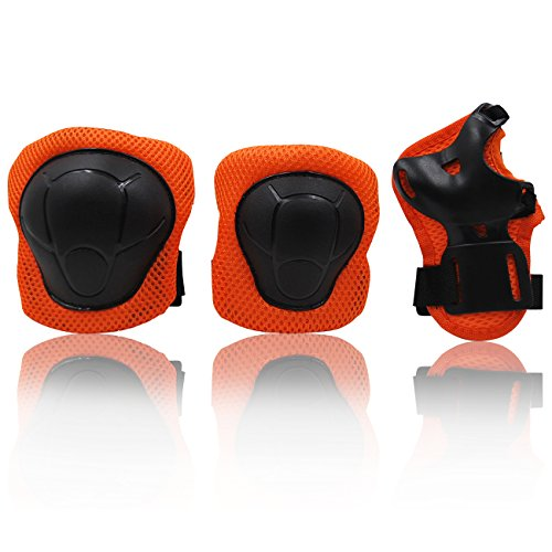 eNilecor Kid's Knee Pads Elbow Pads Wrist Guards for Skateboarding Cycling Inline Skating Roller Blading Protective Gear Pack of 6