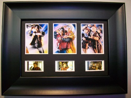 BACK TO THE FUTURE Framed Trio 3 Film Cell Display Collectible Movie ...