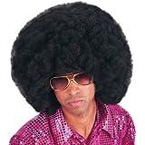 Carnival 2971 - Parrucca Africa Nera in Busta, diametro 40 cm, occhiali esclusi