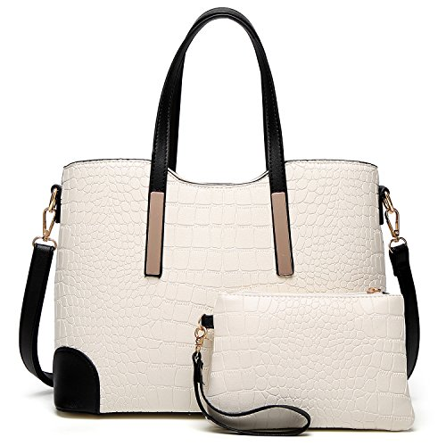 for and YNIQUE Shoulder Satchel Bags Wallets Tote Women Handbags Purses White c OOIxE