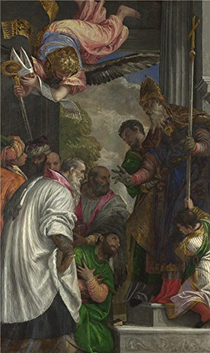 'Paolo Veronese The Consecration Of Saint Nicholas ' Oil Painting, 16 X 27 Inch / 41 X 68 Cm ,printed On High Quality Polyster Canvas ,this Best Price Art Decorative Canvas Prints Is Perfectly Suitalbe For Wall Art Decor And Home Decoration And Gifts