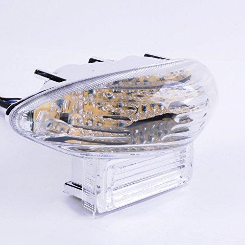 Wotefusi ABS Injection New Motorcycle Turn Brake Turning Braking Signal Tail Rear Light Lamp Taillight For Suzuki Hayabusa GSXR1300 1999-2007 2000 2001 2002 2003 2004 2006 Katana 600/750 03-06 Clear (Lamps 750 Clear)
