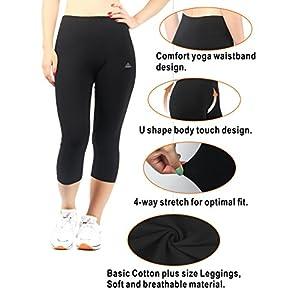 iLoveSIA Women's Plus Size Capri 3/4 Leggings Dark Grey G2 US Size 2X Plus
