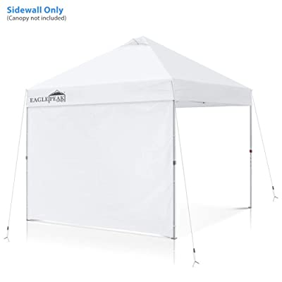 EAGLE PEAK Instant Canopy SunWall 10x10 Commercial Pro Instant Pop-up Canopy, 1 Pack Sidewall, Universal, White: Sports & Outdoors
