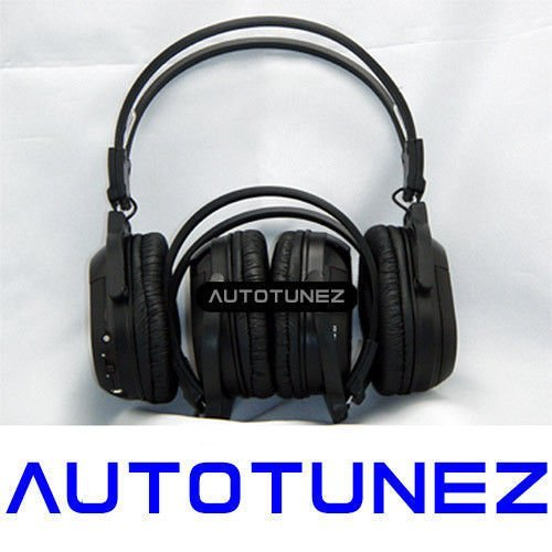 2X WIRELESS IR CORDLESS Dual Channel Stereo Headphones Infrared Dual Channel Infrared Stereo Headphones
