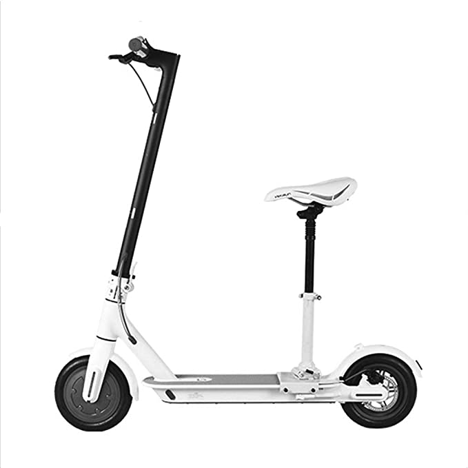 Laduup - Sillín de Bicicleta eléctrico, monopatín, Patinete, Silla Plegable, Ajustable, sillín Plegable, cojín Amortiguador, Asiento de Patinaje, ...