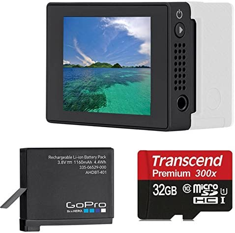 GoPro LCD Touch BacPac for Gopro Hero4 Gopro GoPro Rechargable Battery for HERO4 with 32GB Micro SD Card Bundle