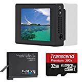 GoPro LCD Touch BacPac For Gopro Hero4 + Gopro GoPro Rechargable Battery for HERO4 With 32GB micro SD Card Bundle