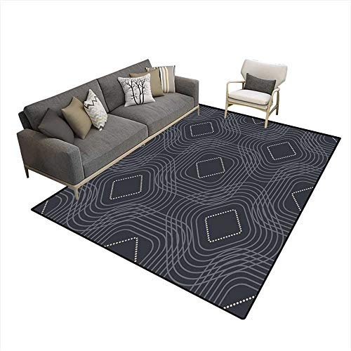 Kids Carpet Playmat Rug Abstract Geometric Pattern Background Elegant Background for Cards and Invitations 5'x7' (W150cm x L210cm