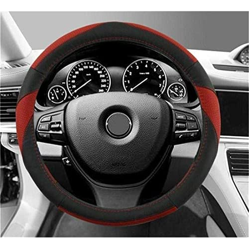 Best Gomass Car Leather Steering Wheel Covers Universal 15 Inch