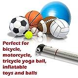 Professional Mini Bike Pump - Up Zone, Fits Presta & Schrader, 120 PSI, Tire Repair Kit, Mini Bicycle Pump, Lighweight Aluminium Housing, Perfect For Basketball, Soccer, Football, Inflatable Toys