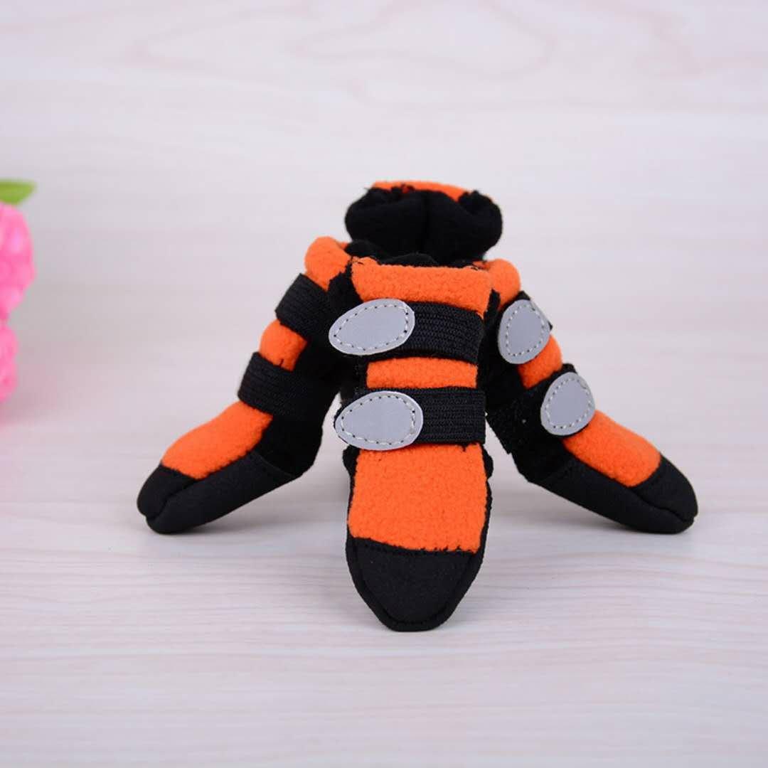 orange 55  orange 55  Dog Anti-Slip shoes,Suede Wear-Resistant Skid-Proof Dog Boots Round Head Velcro Predector Soft Soled shoes 4 PCS Large Dog Sport shoes 2 color & 6 Size (color   orange, Size   55 )