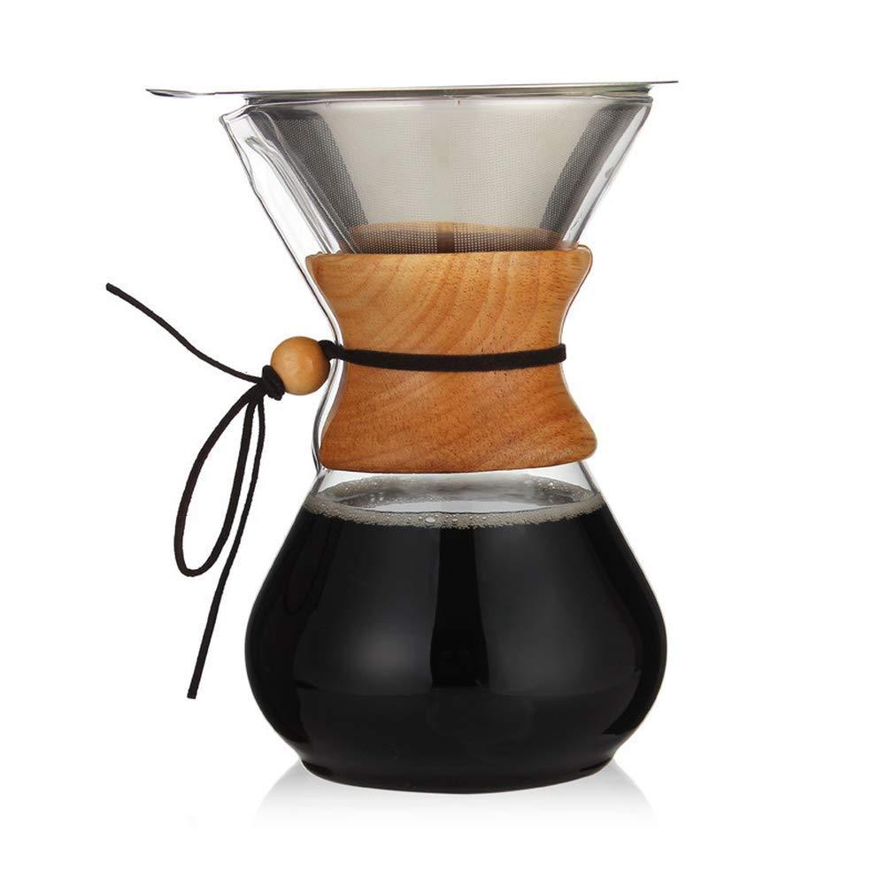 D.Roc 800ml Glass Coffee Pot Dripper Moka Tea Maker Percolator Barista Tools Espresso Manual Kettle Teapot with Stainless Steel Infuser by D.Roc