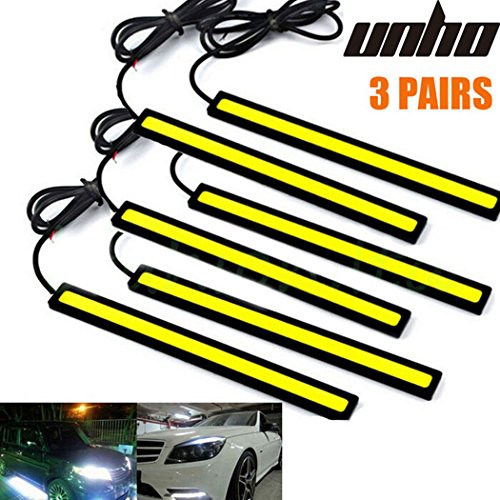 6PCs Universal Waterproof Car Trucks Daytime Running Light Lamp Super Bright 12V LED Strips COB Car Led Fog Light (Fog Car)