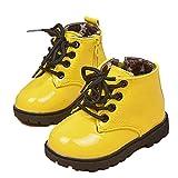 tenworld Winter Baby Kids Niños Niñas Zapatos Cordones Ejército Martin botas, Amarillo, 21