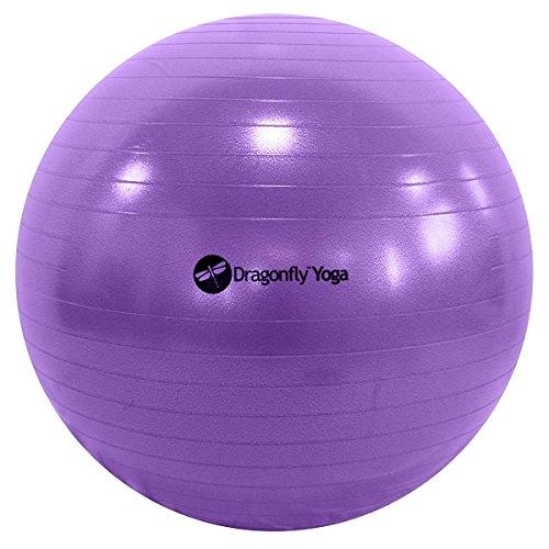 - Dragonfly Yoga Premium Anti-Burst Fitness Ball, Purple, 65cm