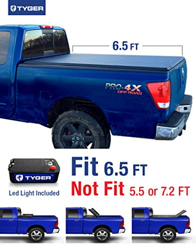 Titan 6.5' Bed (Tyger Auto TG-BC3N1027 TRI-FOLD Truck Bed Tonneau Cover 2004-2015 Nissan Titan | Fleetside 6.5' Bed | For models with or without the Utili-track System)