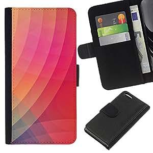 iBinBang / Flip Funda de Cuero Case Cover - Modelo púrpura anaranjada rosada - Apple iPhone 5C