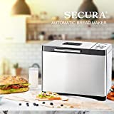 Secura Bread Maker Machine 2.2lb Stainless Steel